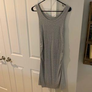 Sleeveless Gray Maternity Dress